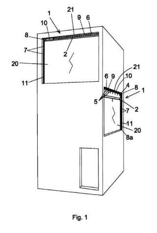 Sistema limpiacristales automático para edificios e infraestructuras.