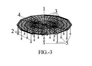 Estructura de soporte frangible para contra-antena de navegación aérea.