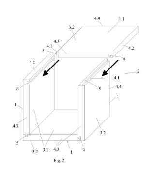 Panel para la construcción de muebles modulares y sistema de ensamblado de muebles con dichos paneles.