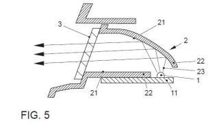 Dispositivo de señalización óptica para faro de vehículo.