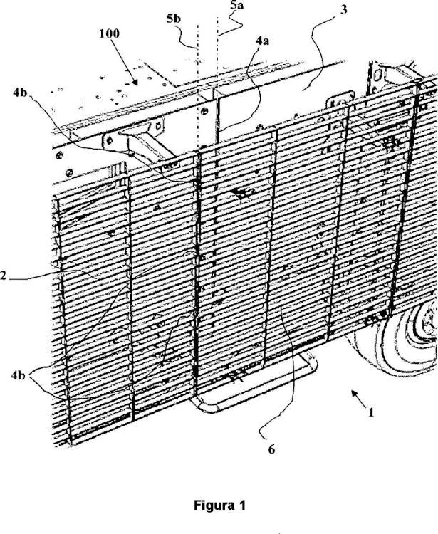 Dispositivo de protección balística desplazada destinado a cubrir completamente una puerta.
