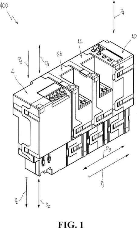 Ensamblaje de dispositivo accesorio para interruptores de baja y media tensión.