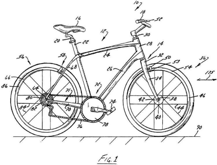 Cuadro de bicicleta con junta de pivote de tubo de sillín pasivo.