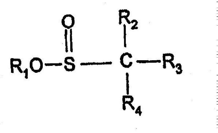 Composición cosmética que comprende derivados de acido sulfinico.