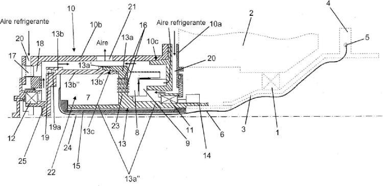 Disposición de telemetría para la transferencia de datos desde un componente rotatorio.