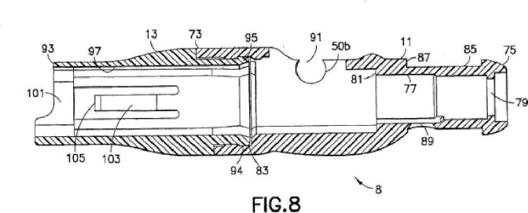 Conjunto de aguja de protección de manera pasiva con sensor de piel.