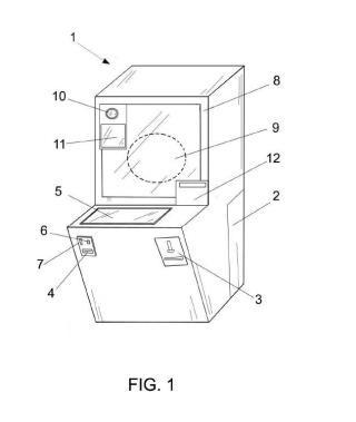 Máquina expendedora de objetos personalizados en tres dimensiones.