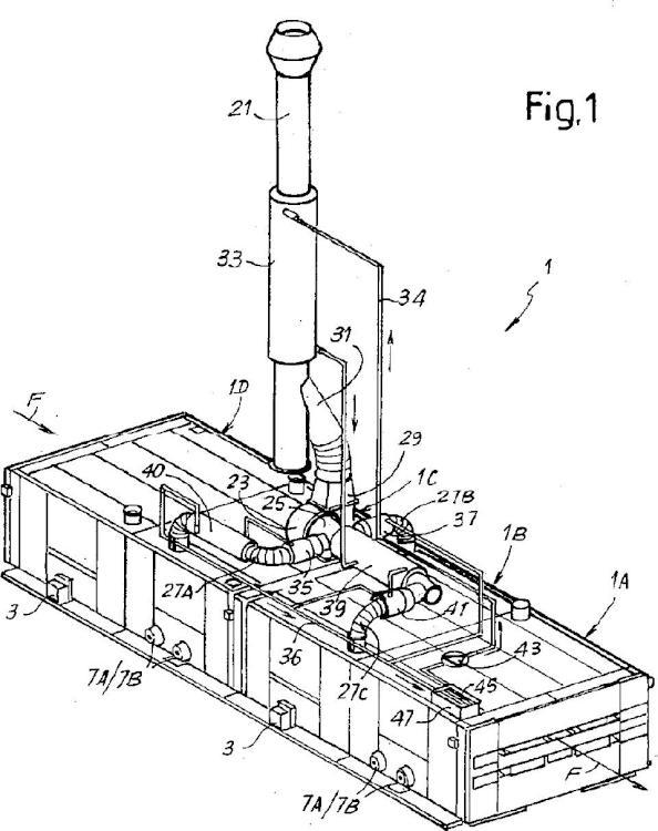 Máquina de tratamiento textil con recuperación de calor.