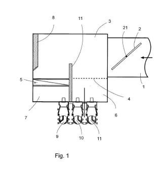 Difusor-inductor de aire para sistemas de climatización.