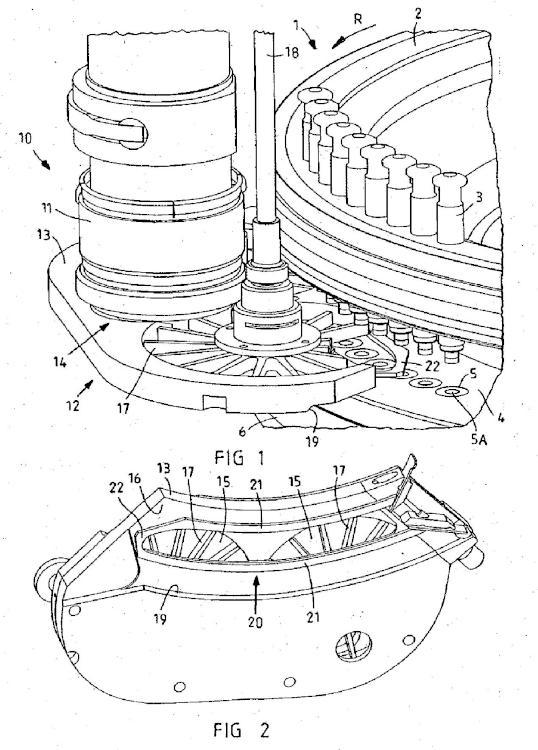 Zapata de llenado para prensas pastilleras rotativas y empaquetadura para tal zapata de llenado.