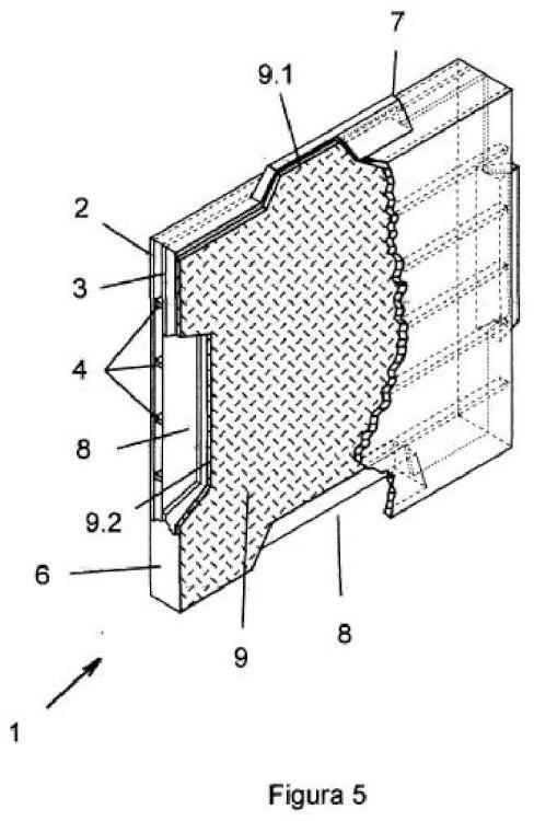 Bloque prefabricado perfeccionado para la construcción.