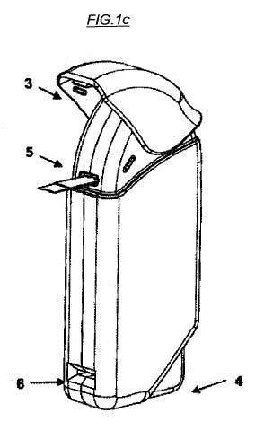 Recipiente dispensador de tiras.