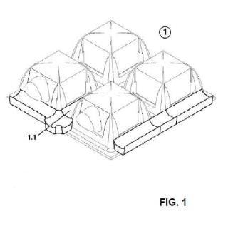 Sistema para construcción de forjados reticulares con diferente geometría de retículas.