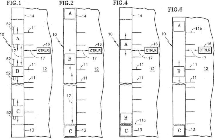 Funcionamiento de un número de cabinas menor que el total de múltiples cabinas en una caja de ascensor después de un fallo de comunicación entre algunas o todas las cabinas.