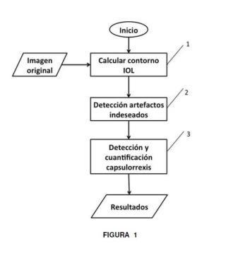 Procedimiento de cuantificación de la opacidad ocular de una lente intraocular.