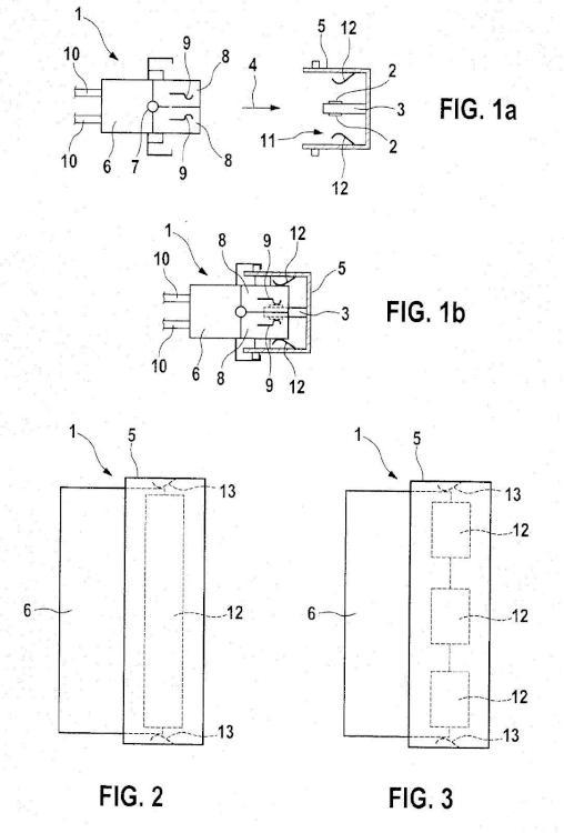 Conexión de enchufe para el contacto eléctrico directo de una placa de circuito impreso.