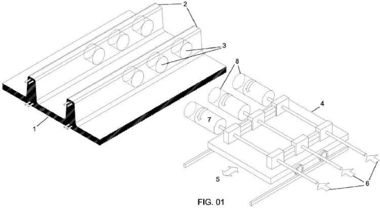 Procedimiento de fabricación de forjados unidireccionales aligerados y equipo necesario para tal fin.