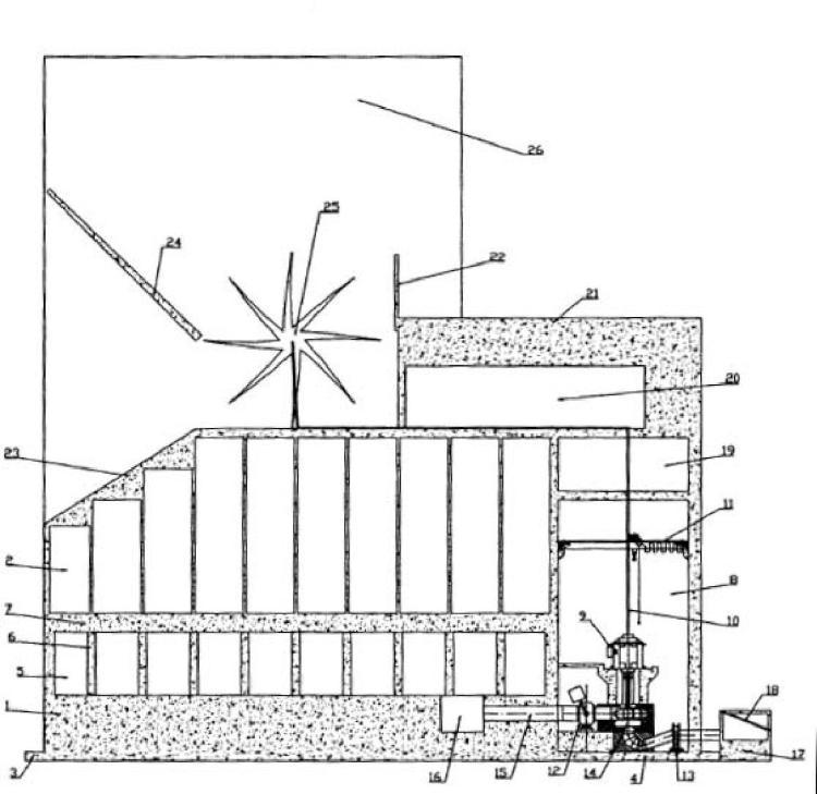 Sistema de generación de energía undimotriz integrado en un cajón.