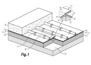 Sistema de calefacción por suelo radiante y placa de sustrato prefabricada para tal sistema de calefacción por suelo radiante.