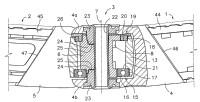 Dispositivo de articulación para un codo de brazo de toldo.