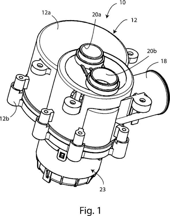 Dispositivo de válvula de desviación, en particular para una máquina para lavar, tal como un lavavajillas.