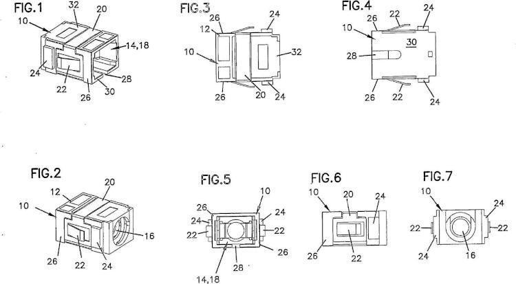Soporte y método para conector de fibra óptica.