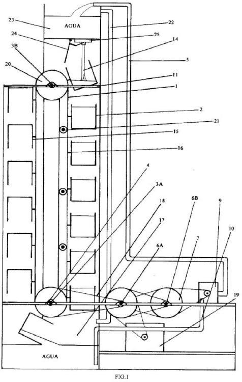 Motor gravitatorio por bombeo de líquido.