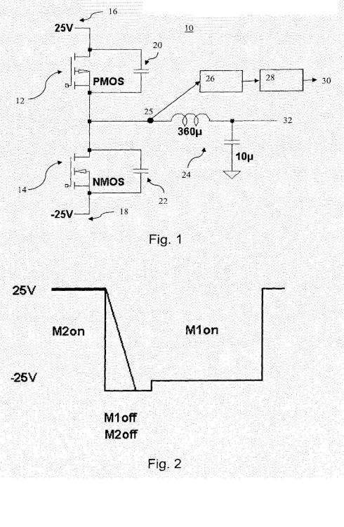 Medición de la corriente de salida de un circuito amplificador.