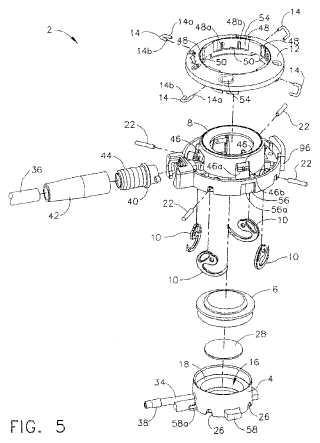 Dispositivo médico implantable con mecanismo de fijación simultánea.