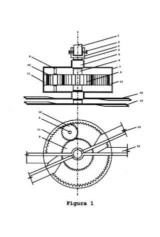 Sistema de doble hélice contrarrotante para máquina cortacésped.