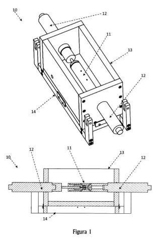 Dispositivo para la realización de un ensayo miniatura de punzonado en condiciones de sumersión en una solución líquida.