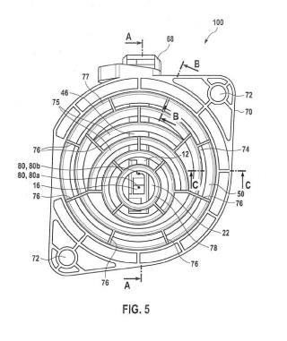 Dispositivo detector para la medida de flujo de un medio fluido.