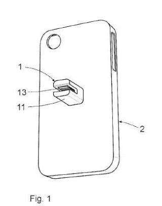 Dispositivo para la sujeción de un teléfono móvil en un vehículo.