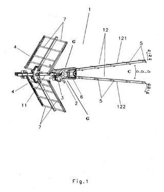 Antena y procedimiento para la recepción de señales de telecomunicación.