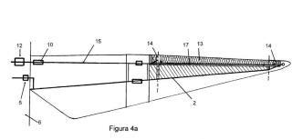 Sistema de protección frente a rayos con sistema antihielo integrado para palas de aerogenerador.