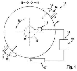 Dispositivo de corte para un dispositivo de fabricación de barras de la industria de procesamiento de tabaco y procedimiento para la regulación del avance de cuchilla en un dispositivo de corte para una máquina de fabricación de barras de la industria de procesamiento de tabaco.