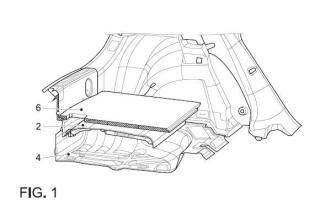 Dispositivo y procedimiento de fijación de una bandeja de un maletero de un vehículo automóvil.