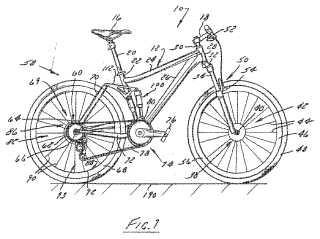 Suspensión de bicicleta.