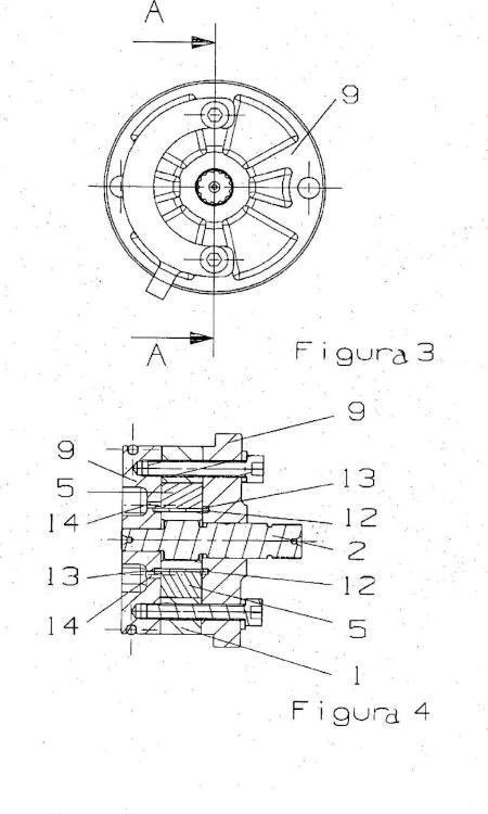 Bomba volumétrica rotatoria de aletas.
