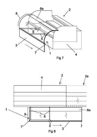 Mecanismo de cierre para vitrina refrigerada.