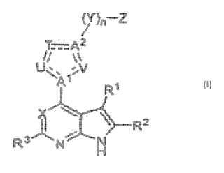 Pirrolo[2,3-b]piridinas y pirrolo[2,3-b]pirimidinas sustituidas con heteroarilo como inhibidores de quinasas Janus.