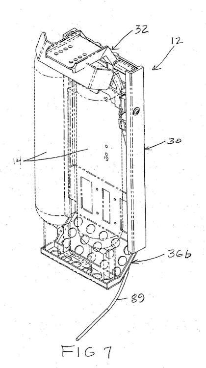 Conjunto de ménsula de montaje de SCBA de bloqueo automático.