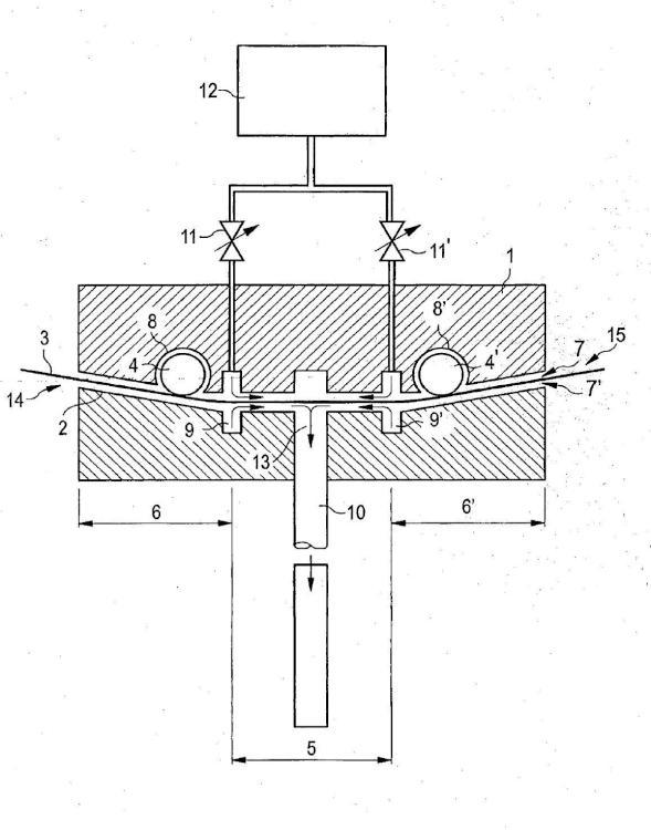 Disposición para la separación de gases y su aplicación.