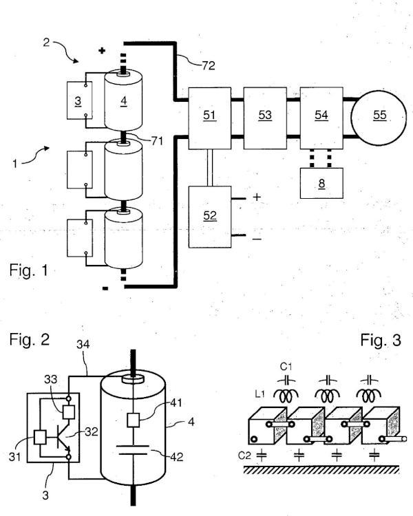 Sistema de baterías de acumuladores con supervisión simplificada.