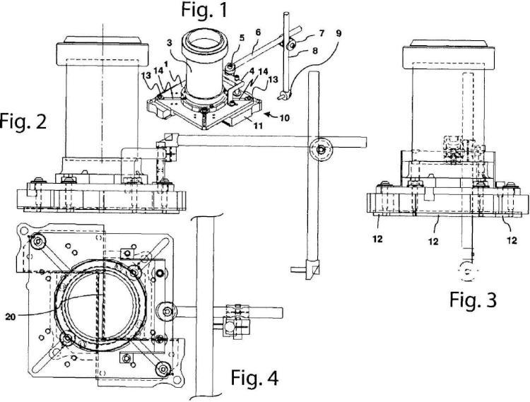 Dispositivo para conformar un haz de electrones de una máquina para terapia con radiación intraoperativa.