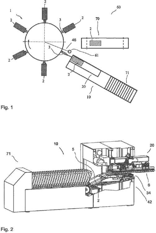 Dispositivo y procedimiento para la colocación de sacos de válvula.