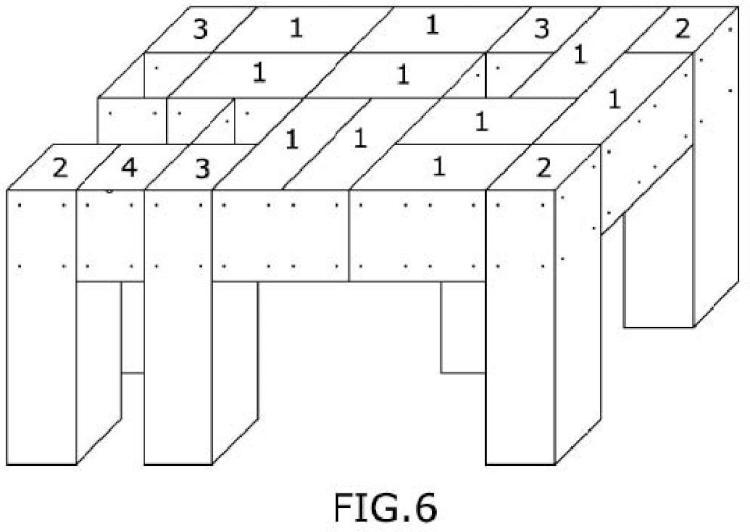 Sistema constructivo de mesa contenedora a partir de elementos modulares de cartón.