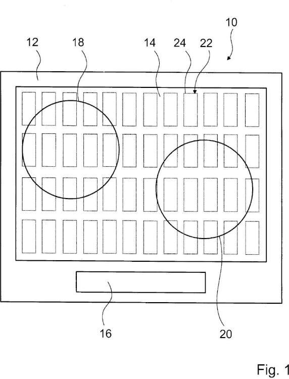 Circuito de dispositivo de cocción y procedimiento para el calentamiento de un objeto.