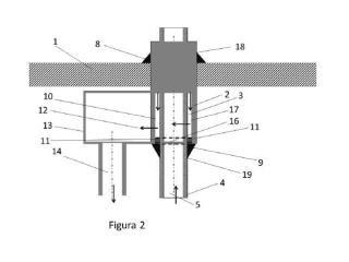 Dispositivo de penetración de tubos concéntricos en intercambiador de calor con dilatación libre.