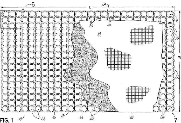 Producto de cama o asiento hecho con muelles helicoidales que tienen vueltas de extremo sin anudar.